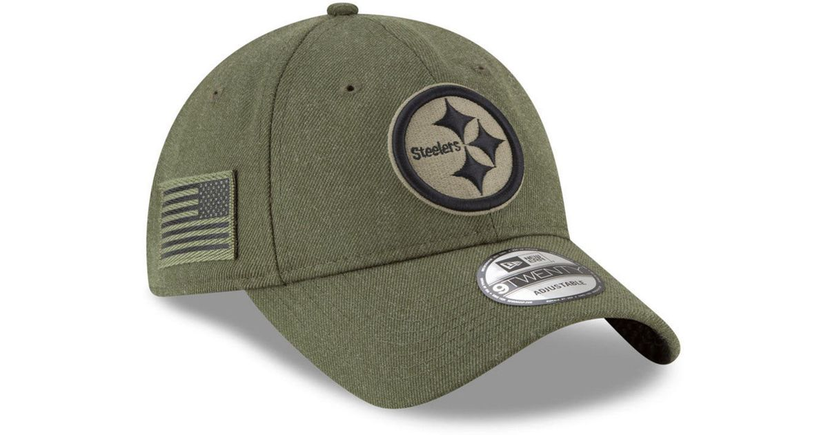 408ca0a5a6c Lyst - KTZ Pittsburgh Steelers Salute To Service 9twenty Cap in Green for  Men