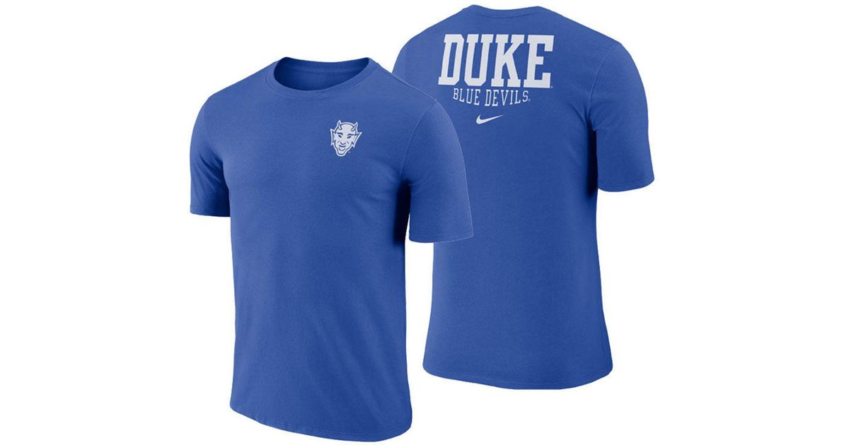 4694bd4b2 Lyst - Nike Duke Blue Devils Dri-fit Cotton Stadium T-shirt in Blue for Men