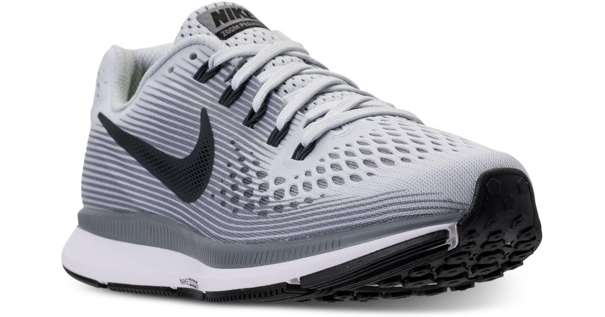 0feadf95e4626 Lyst - Nike Women s Air Zoom Pegasus 34 Running Sneakers From Finish Line  in Gray