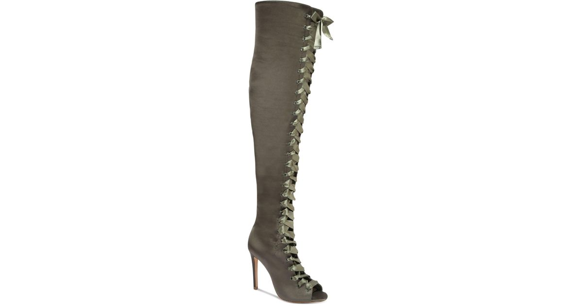 eeb478b311d Lyst - ALDO Cherisse Lace-up Over-the-knee Boots