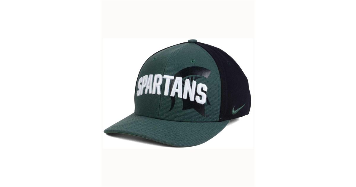 buy popular ced47 5f379 Lyst - Nike Michigan State Spartans Classic 99 Swoosh Flex Cap in Green for  Men