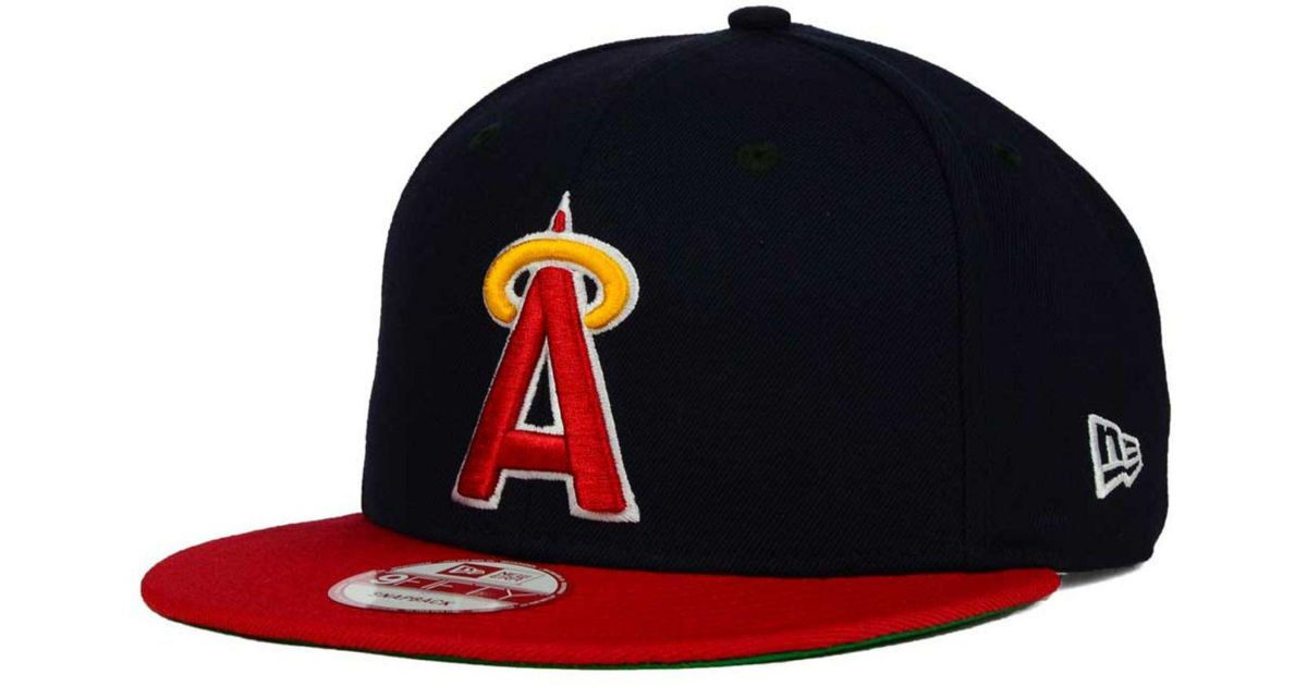 reputable site 8653e 059aa ... shopping lyst ktz los angeles angels of anaheim 2 tone link cooperstown 9fifty  snapback cap in