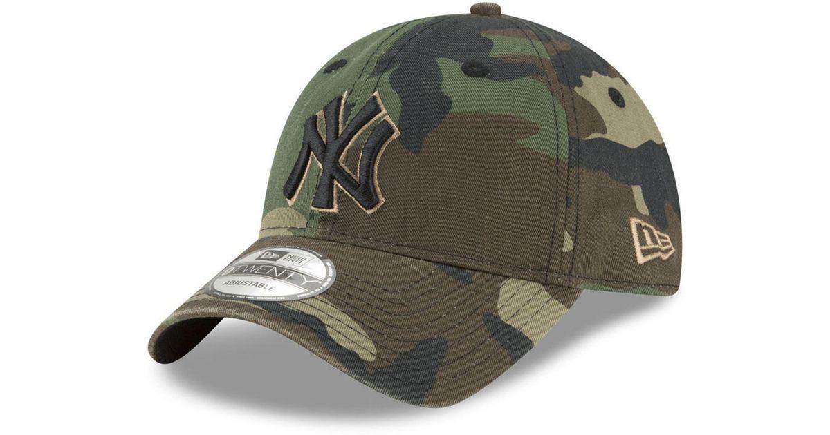 f8e7fcebffb ... store lyst ktz new york yankees camo core classic 9twenty cap in green  for men adc7b