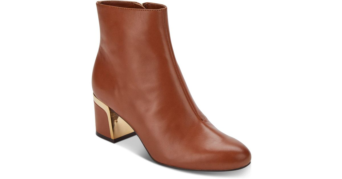 889684a87 DKNY Corrie Ankle Booties, Created For Macy's in Brown - Lyst