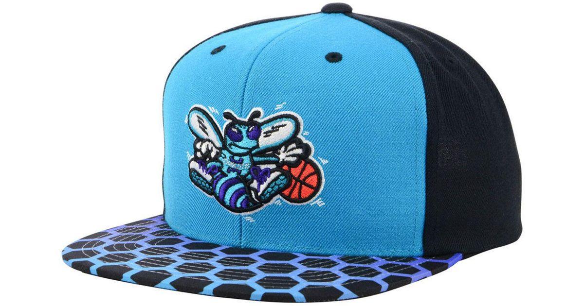 3e04a3a4a40 ... cheap lyst mitchell ness charlotte hornets winning team snapback cap in  blue for men 3c3a4 a0254