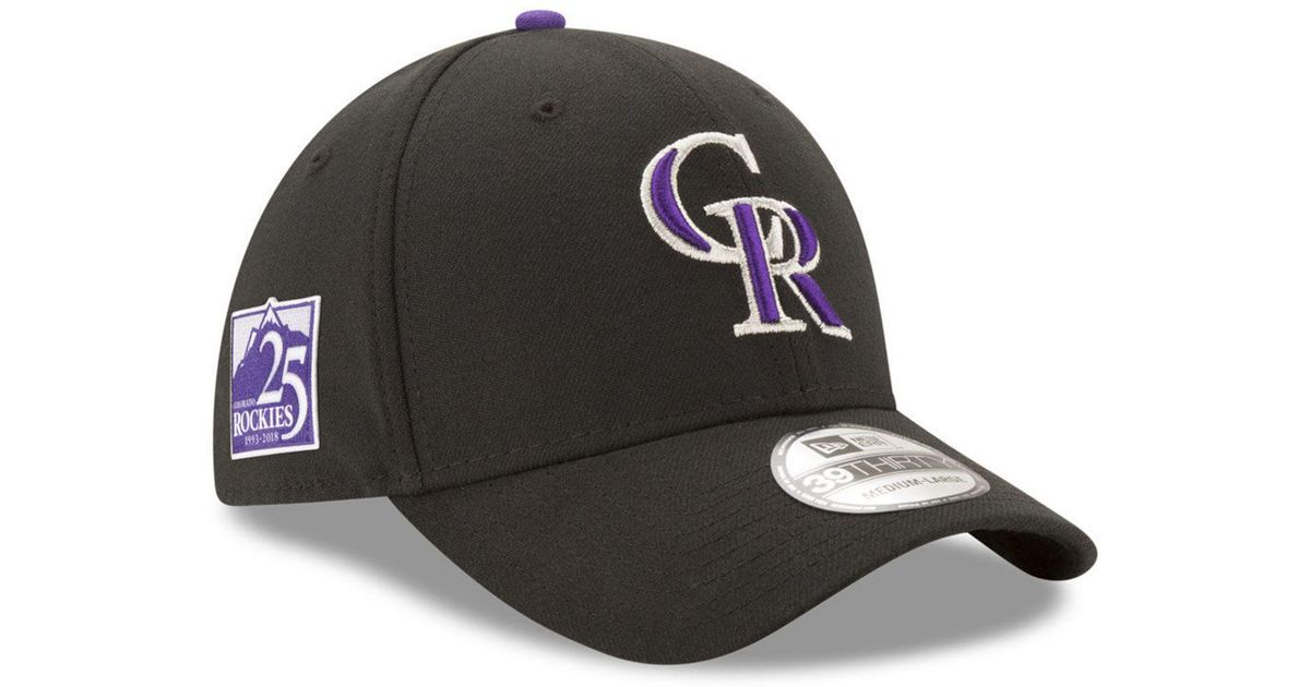 huge discount 9b680 7b913 KTZ Colorado Rockies Team Classic 25th Anniversary 39thirty Cap in Black for  Men - Lyst