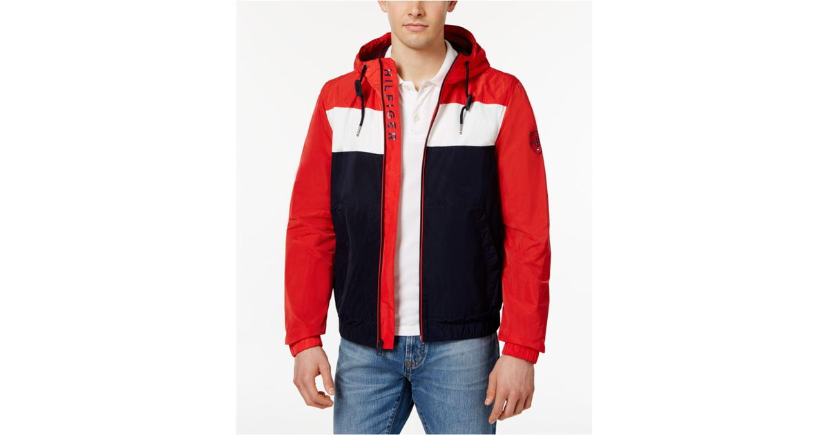 2bba7db4 Tommy Hilfiger Men's Brewer Windbreaker in Red for Men - Lyst