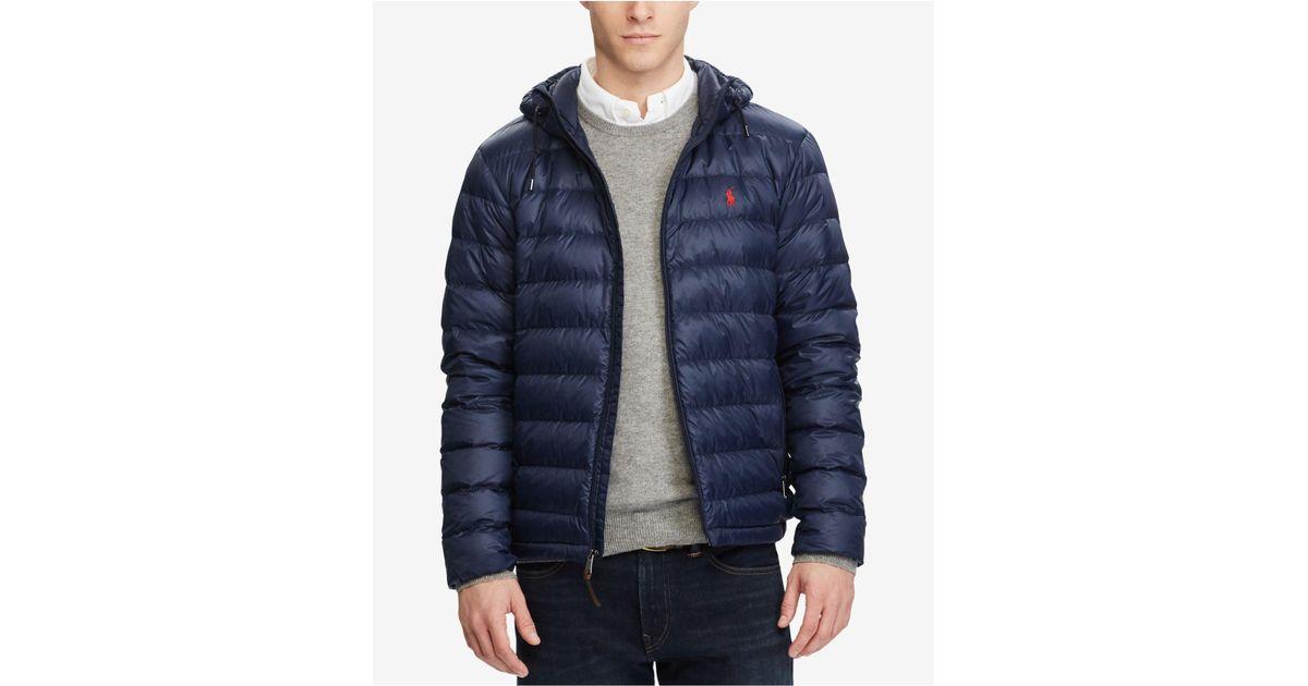6d1ca26aec7f Lyst - Polo Ralph Lauren Men s Packable Down Jacket in Blue for Men