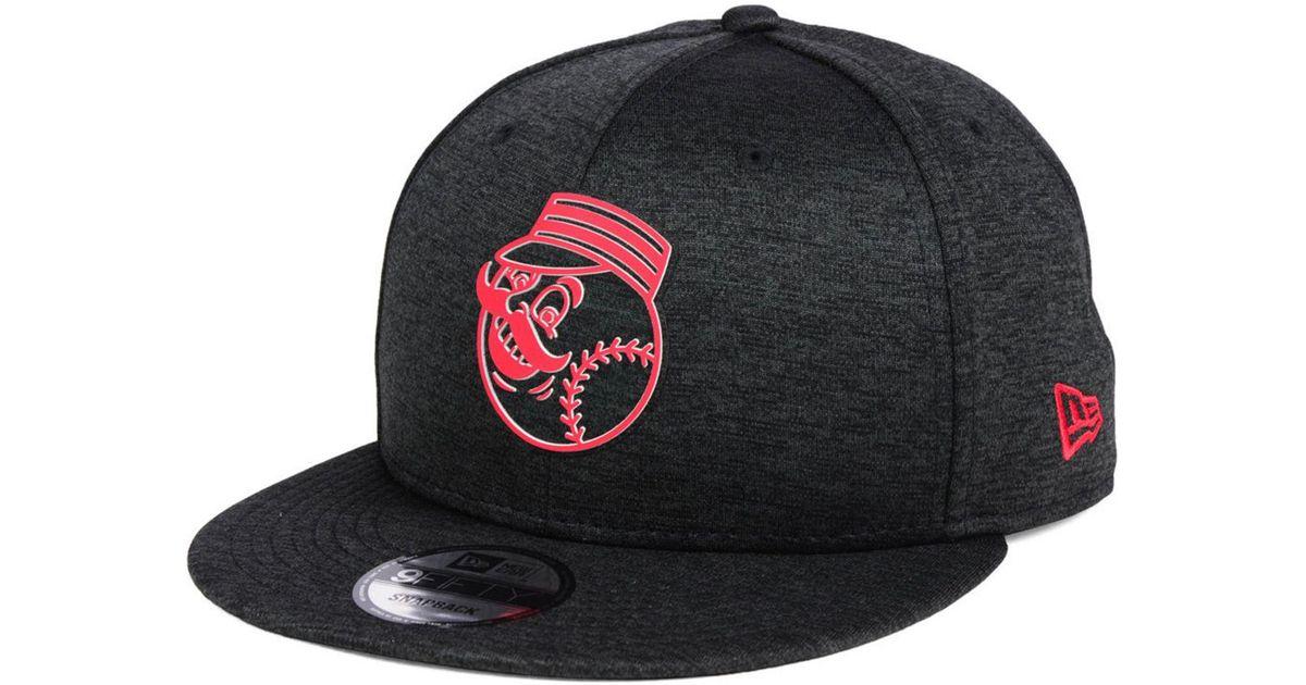 buy popular 6f46a 9cea5 Lyst - KTZ Cincinnati Reds Clubhouse Jersey Pop 9fifty Snapback Cap in  Black for Men