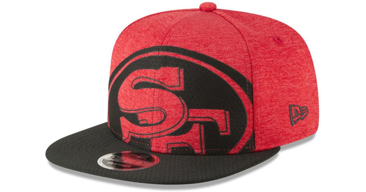 258833d724f75e Lyst - KTZ San Francisco 49ers Oversized Laser Cut 9fifty Snapback Cap in  Red for Men