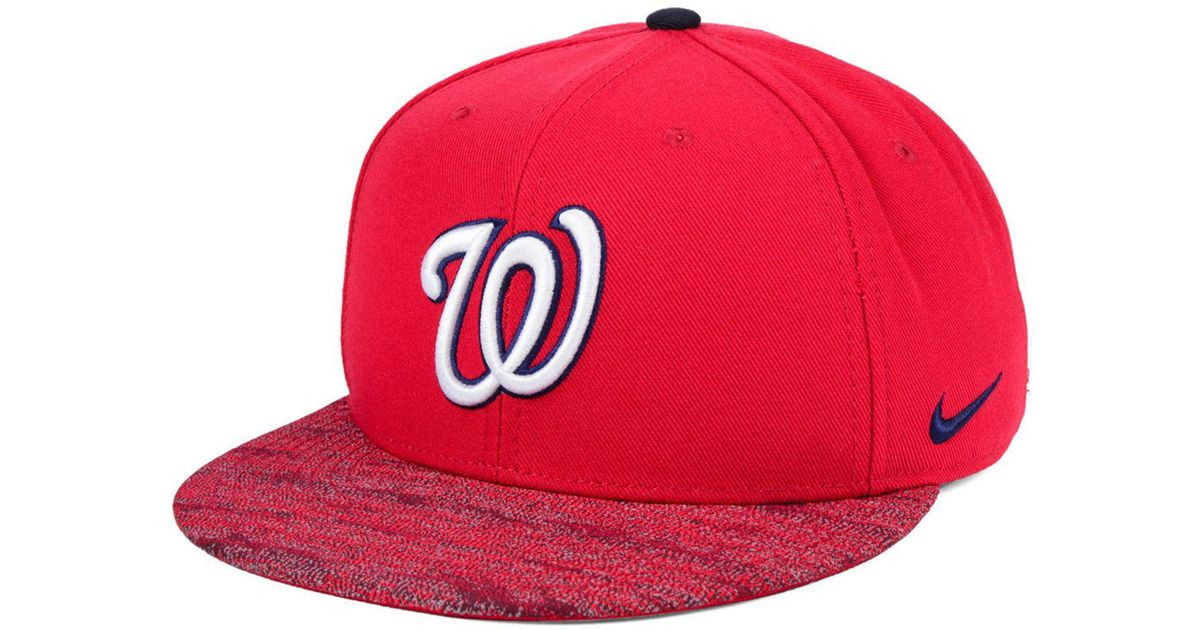 best service f9c97 8c57d ... shopping lyst nike washington nationals reverse new day snapback cap in  red for men a67a2 941da