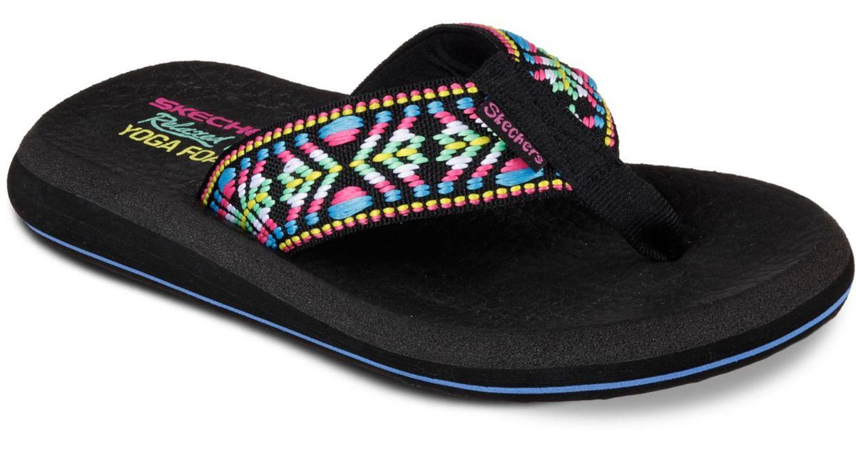 4ff8f9facb4 Lyst - Skechers Asana Flip-flop Thong Sandals From Finish Line in Black