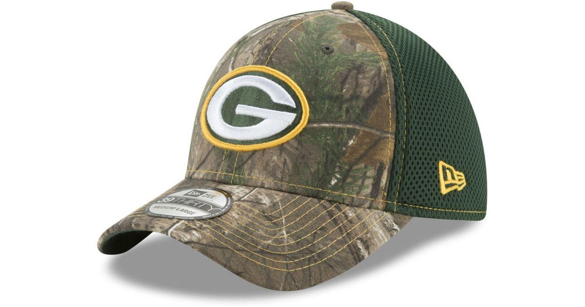 wholesale dealer 45cc5 814cb Lyst - KTZ Green Bay Packers Realtree Camo Team Color Neo 39thirty Cap in  Green for Men