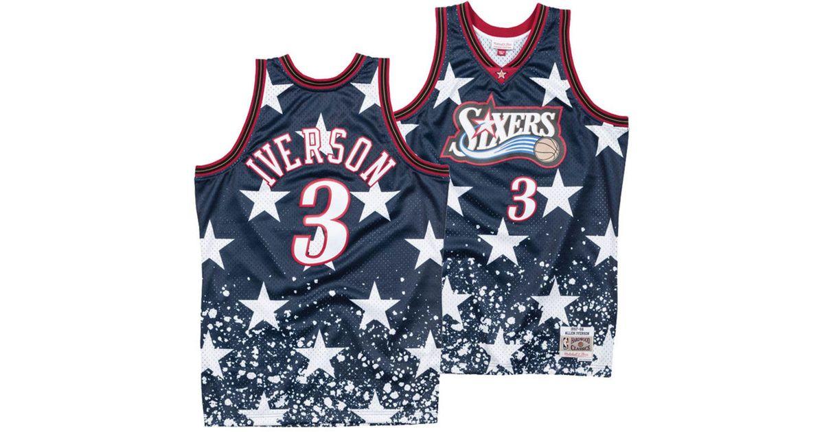 983681dd9 Lyst - Mitchell   Ness Allen Iverson Philadelphia 76ers The 4th Swingman  Jersey in Blue for Men