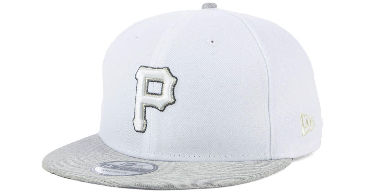 huge selection of 3947e 76bbe ... germany lyst ktz pittsburgh pirates bright heather 9fifty snapback cap  in white for men ebbf2 e9866
