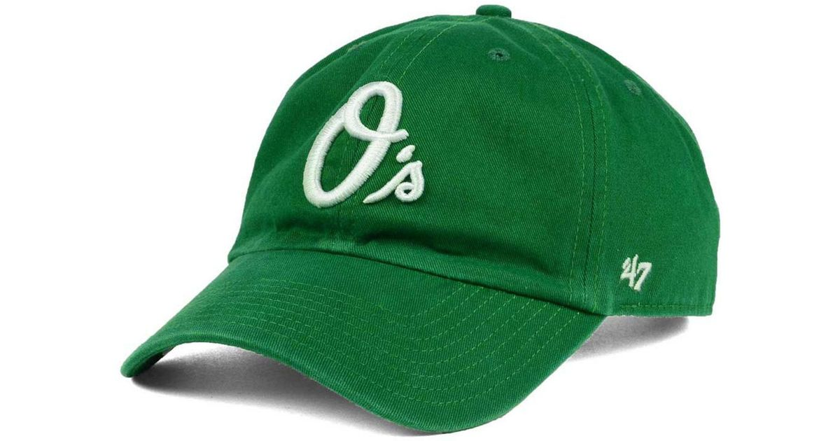 3b6c619687109 ... sale lyst 47 brand baltimore orioles kelly white clean up cap in green  for men 1bae5
