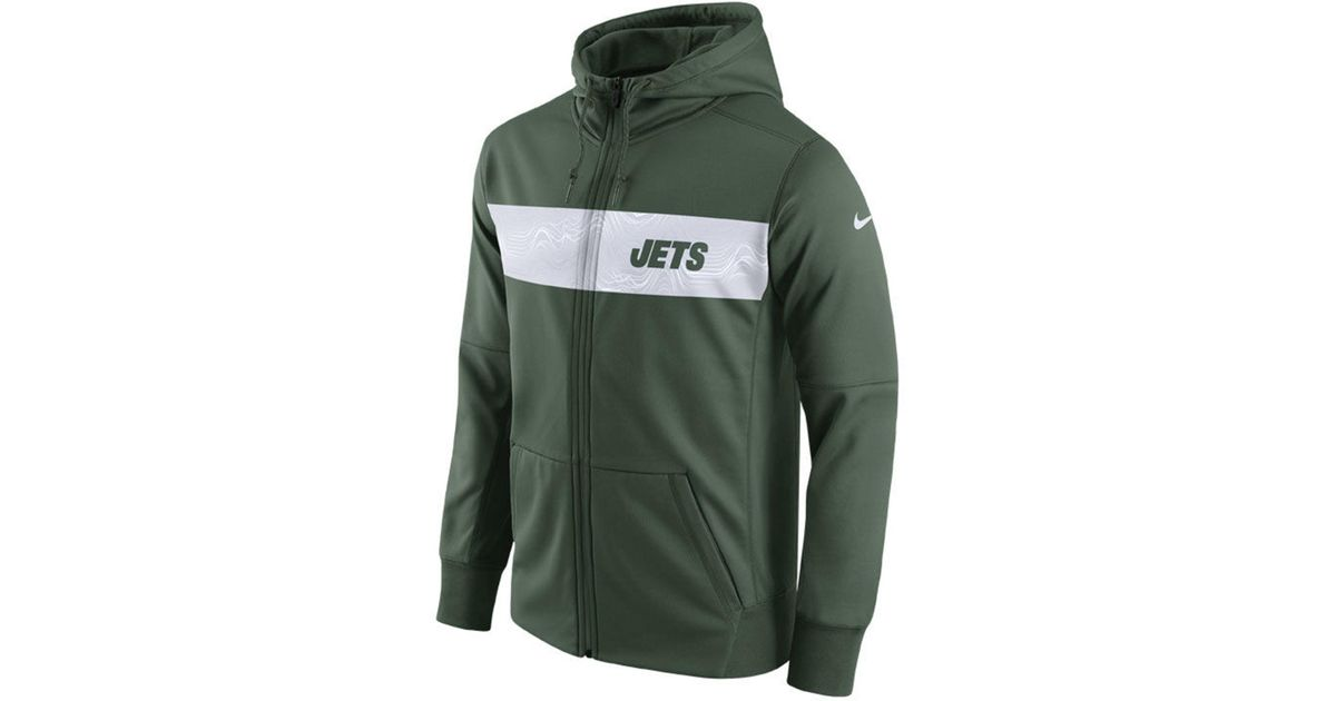 Lyst Nike New York Jets Seismic Therma Full zip Hoodie in Green  for cheap