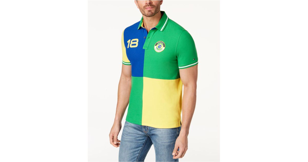 cc78f01c Tommy Hilfiger Classic Fit Country Polo, Created For Macy's in Green for Men  - Lyst