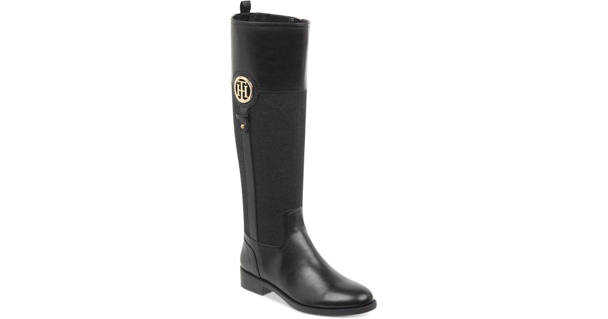 845d7198a2e865 Lyst - Tommy Hilfiger Ilia Riding Boots