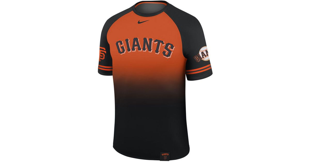 004b2fbae9b Nike San Francisco Giants Dri-fit Sublimated Raglan T-shirt in Black for  Men - Lyst