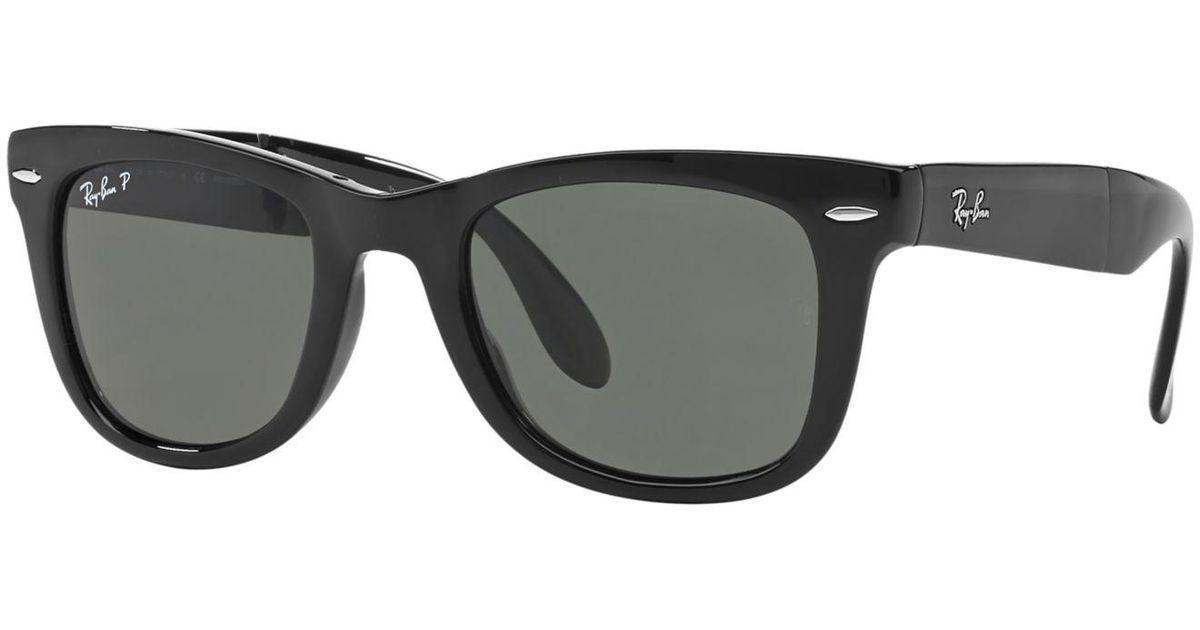 0642ca23013 ... ebay lyst ray ban sunglasses rb4105 54 folding wayfarer in black for men  save 23.64532019704434 5dc44 ...