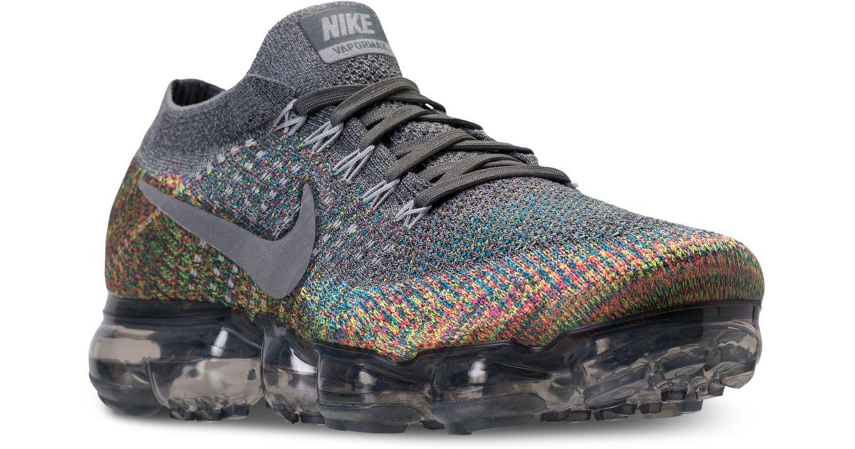 b2d0e618615c Lyst - Nike Air Vapormax Flyknit Running Sneakers From Finish Line in Gray  for Men