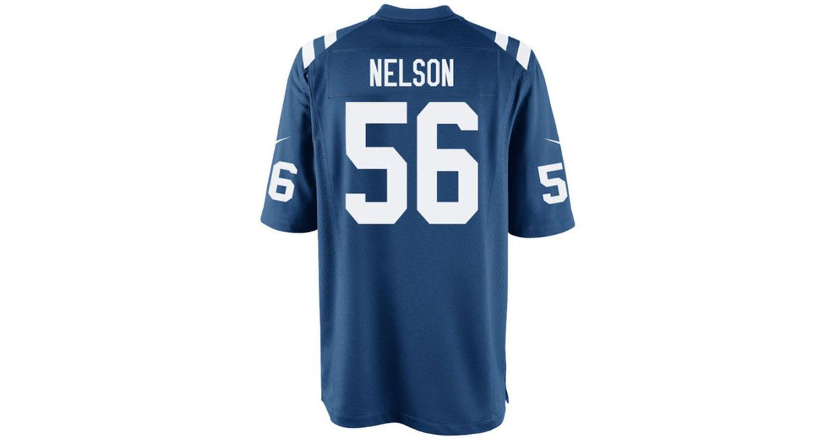 release date d8be5 3e727 Nike - Blue Quenton Nelson Indianapolis Colts Game Jersey for Men - Lyst