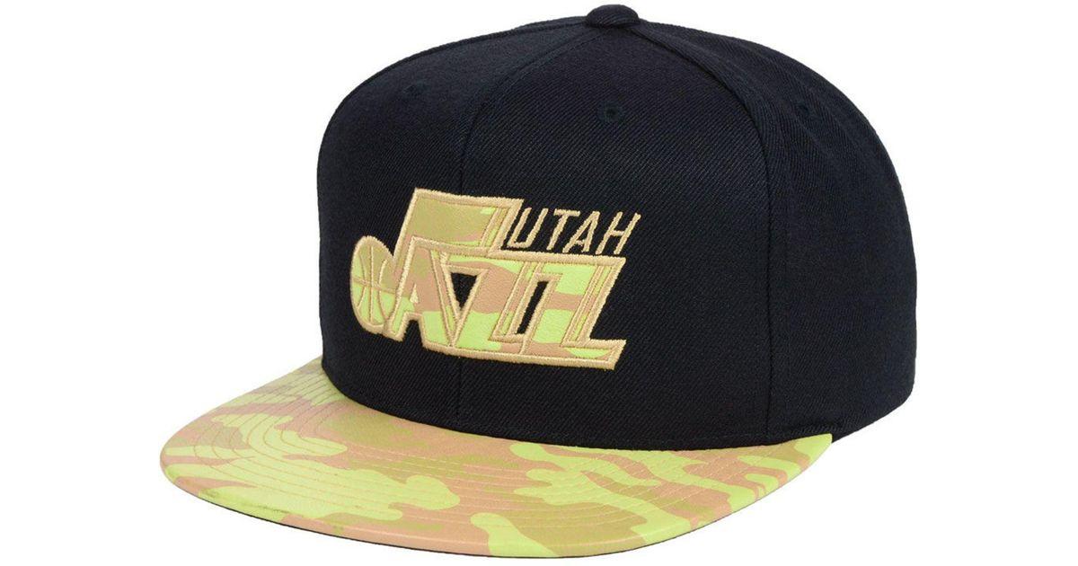 48a9ffea5d69f Lyst - Mitchell   Ness Utah Jazz Natural Camo Snapback Cap for Men