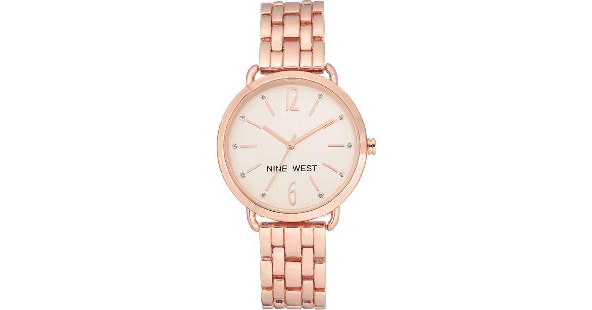 de8801a025e9 Lyst - Nine West Rose Gold-tone Bracelet Watch 36mm in Metallic