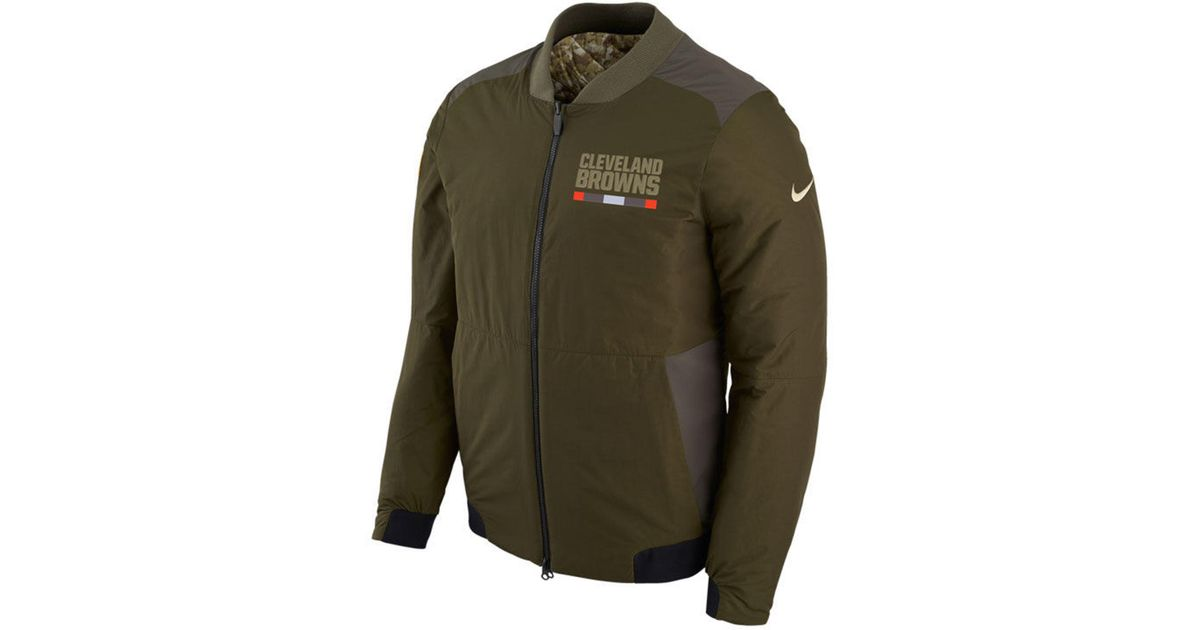 2e4562d38a2 Lyst - Nike Men's Salute To Service Bomber Jacket in Green for Men