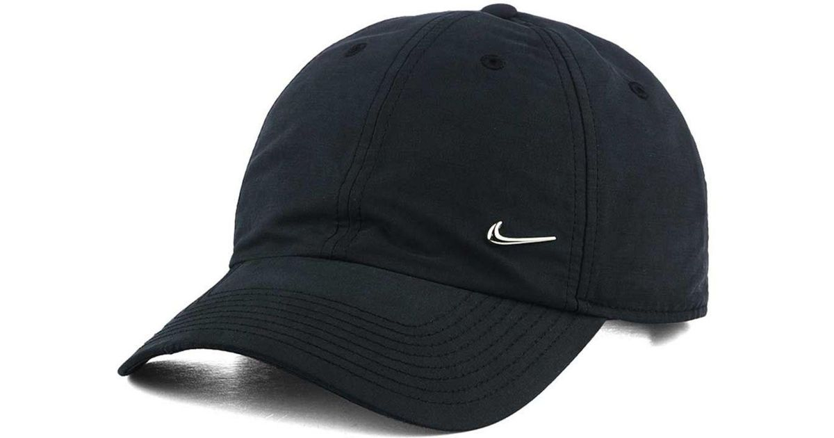 6ebbd40c190 Lyst - Nike Metal Swoosh Cap in Black for Men