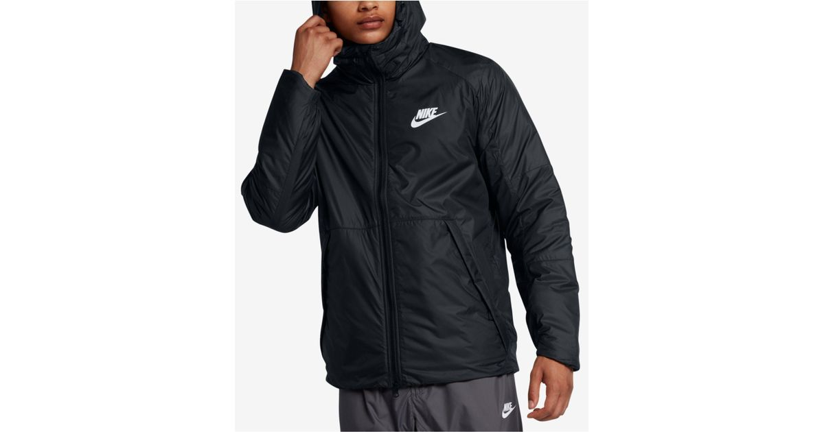 Lyst - Nike Men s Sportswear Insulated Rain Jacket in Black for Men 34ff3f8eb