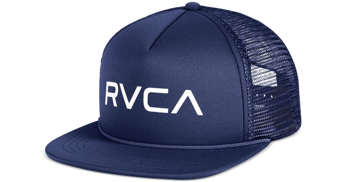 57e203c9a2a54d RVCA Men's Foamy Trucker Cap in Blue for Men - Lyst