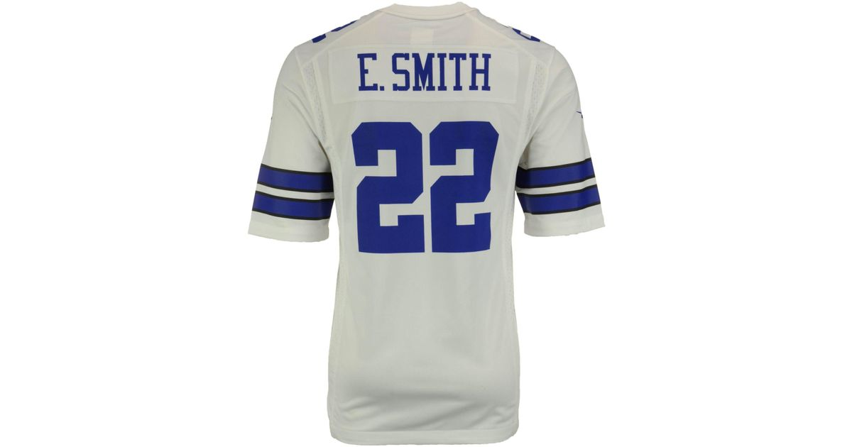 watch 6b2f3 405db Nike White Men's Emmitt Smith Dallas Cowboys Game Jersey for men