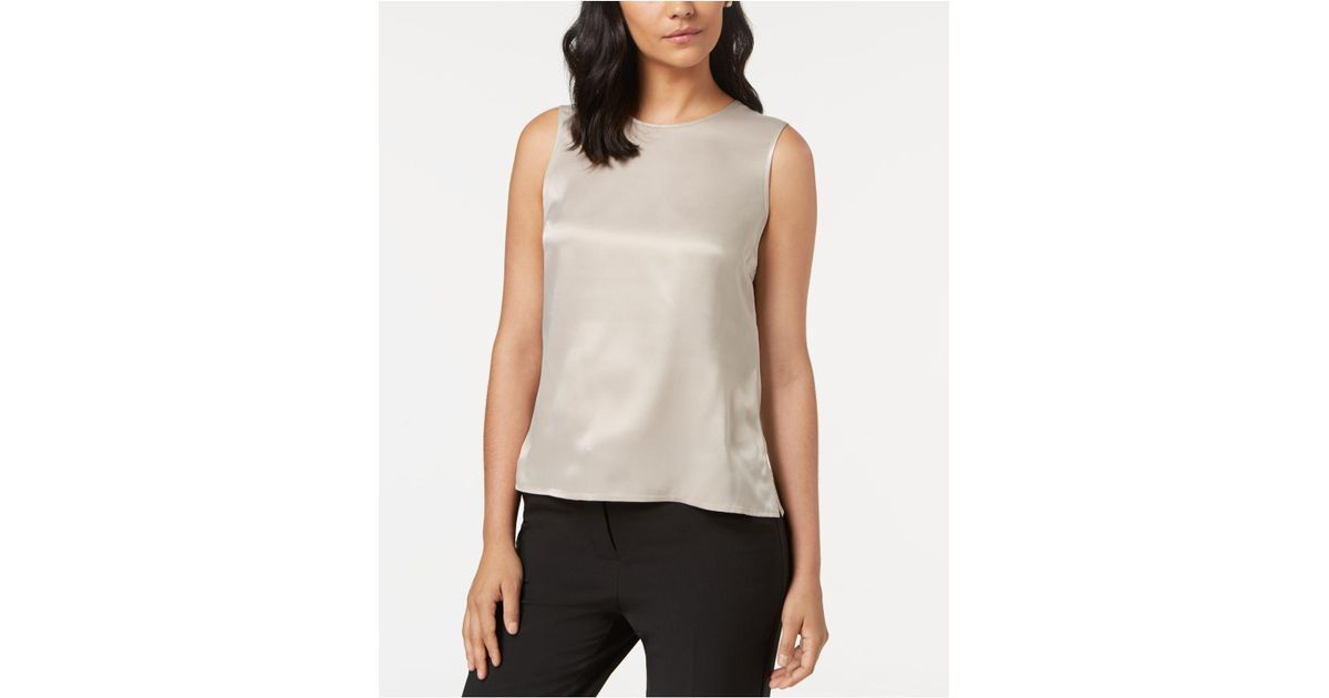 8221351182de5f Kasper Sleeveless Top, Regular & Petite - Lyst