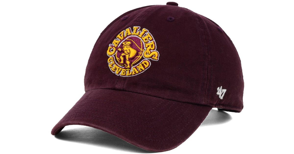 sale retailer 81dc1 a70ef 47 Brand Cleveland Cavaliers Hardwood Classics Clean Up Cap in Red for Men  - Lyst