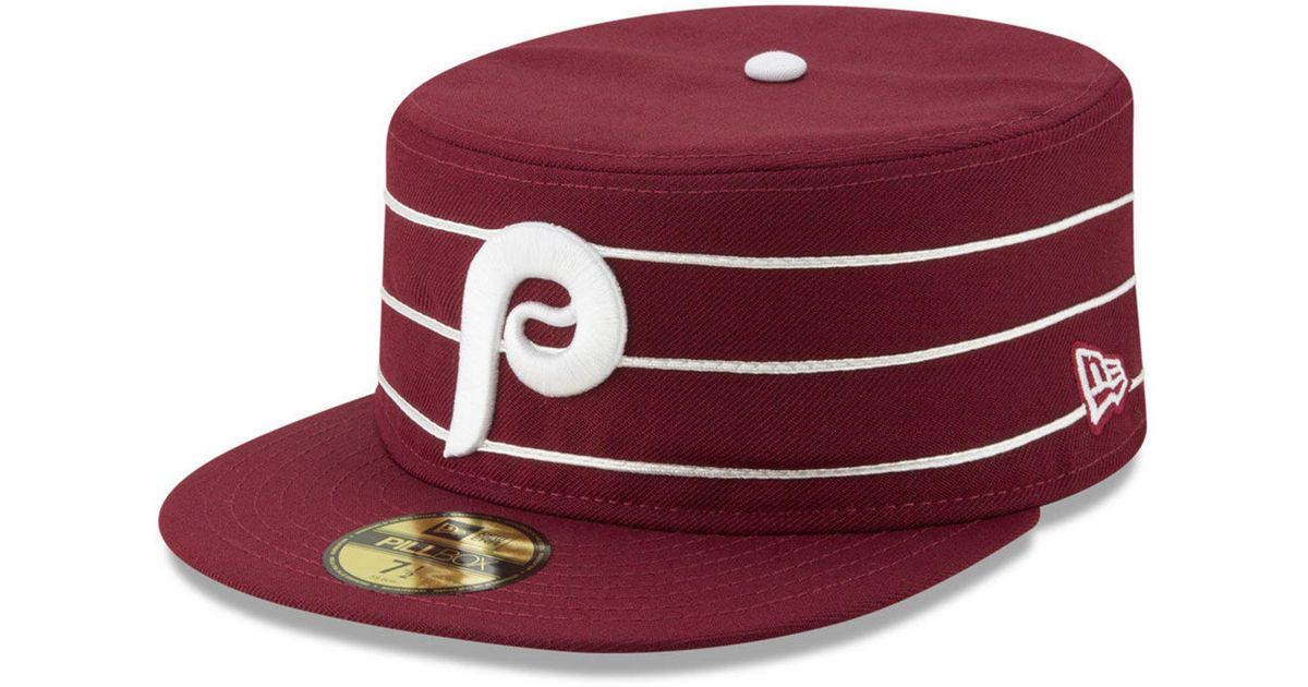 Lyst - KTZ Philadelphia Phillies Pillbox 59fifty-fitted Cap in Red for Men 9b5119120d6