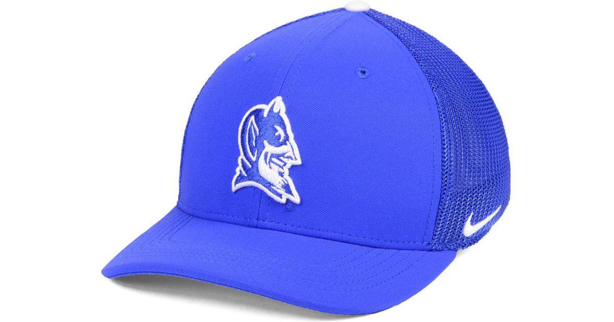 low priced d6b0b 144dd Lyst - Nike Duke Blue Devils Col Aro Swooshflex Cap in Blue for Men