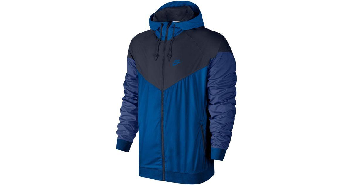 59826414382cb Nike Windrunner Colorblocked Jacket in Blue for Men - Lyst