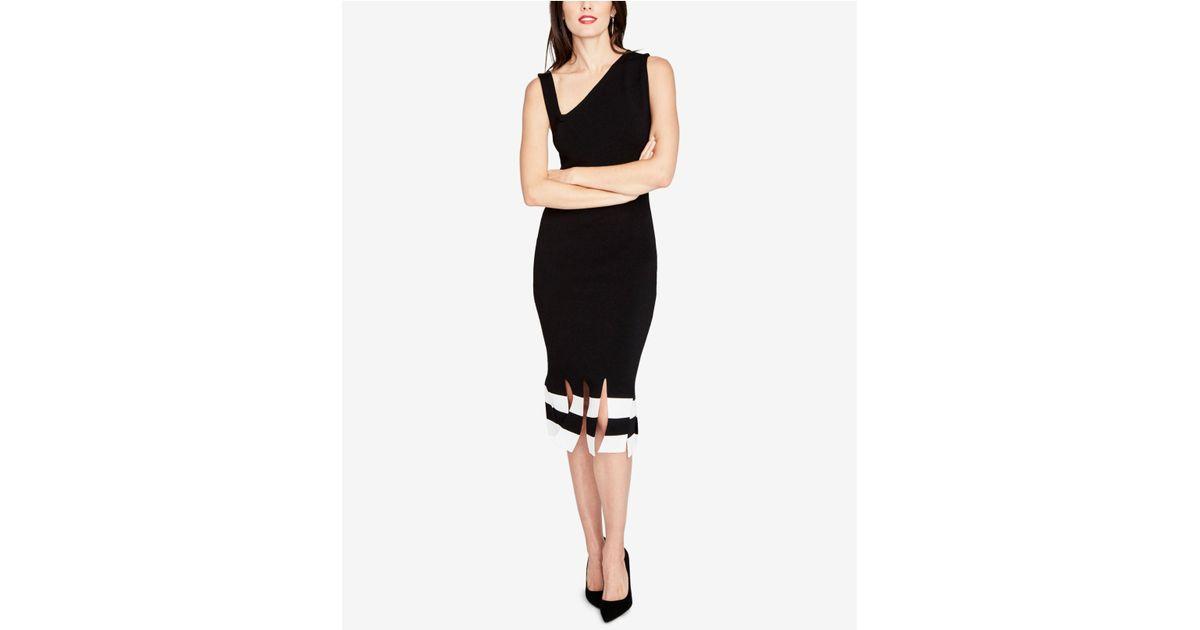 af2cf86dcd RACHEL Rachel Roy Carwash-hem Bodycon Dress in Black - Lyst