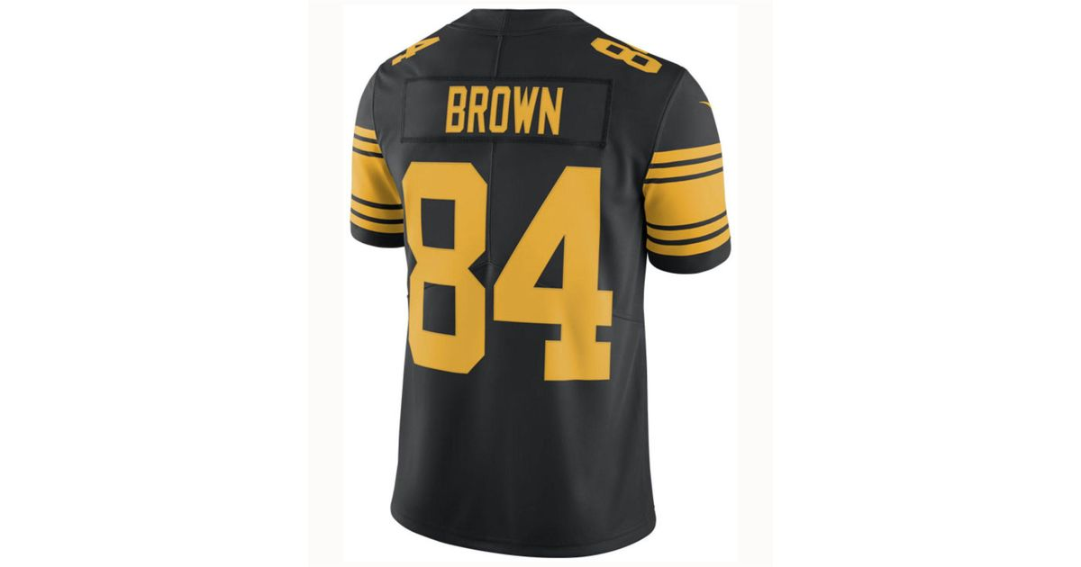 b3c2997bebf ... 50% off lyst nike antonio brown pittsburgh steelers limited color rush  jersey in black for