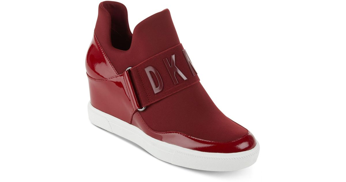 c1f86ffe7422 DKNY - Red Cosmos Platform Sneakers