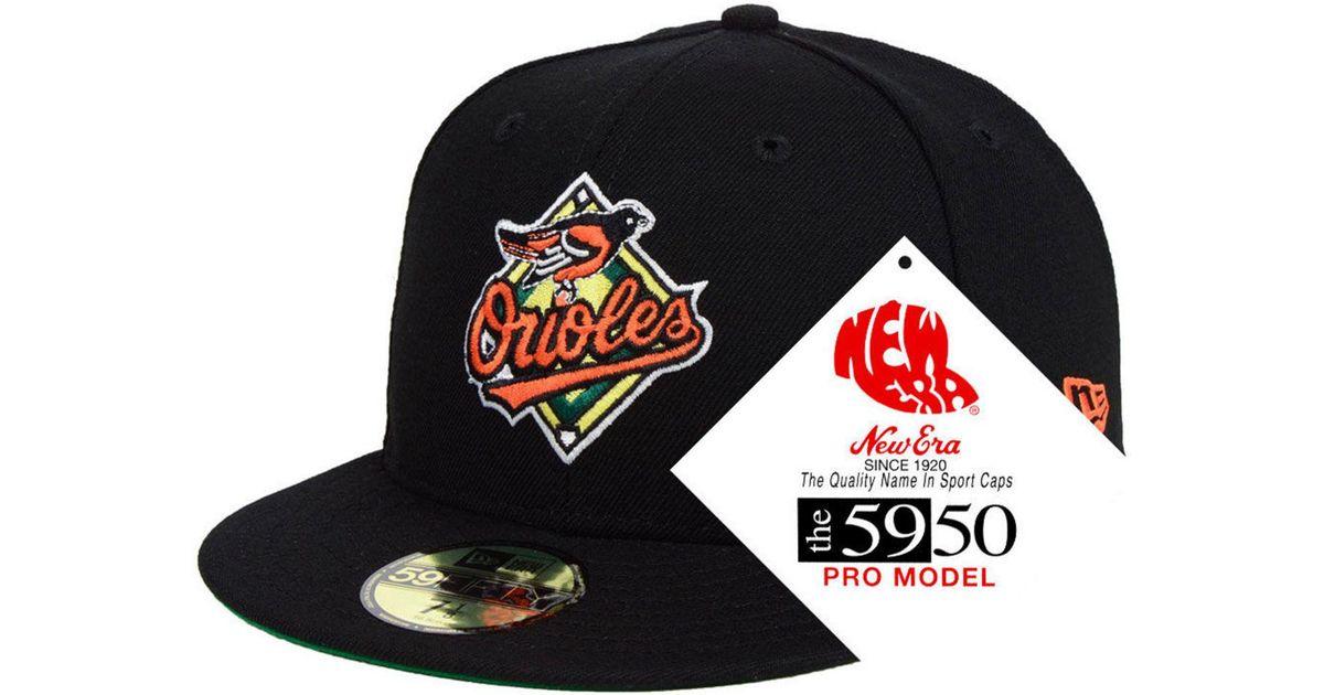 9e3d82ea6 KTZ - Black Baltimore Orioles Retro Stock 59fifty Fitted Cap for Men - Lyst