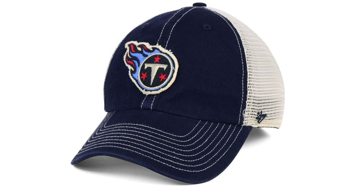 9c2ff67d564 Lyst - 47 Brand Tennessee Titans Canyon Mesh Clean Up Cap in Blue for Men