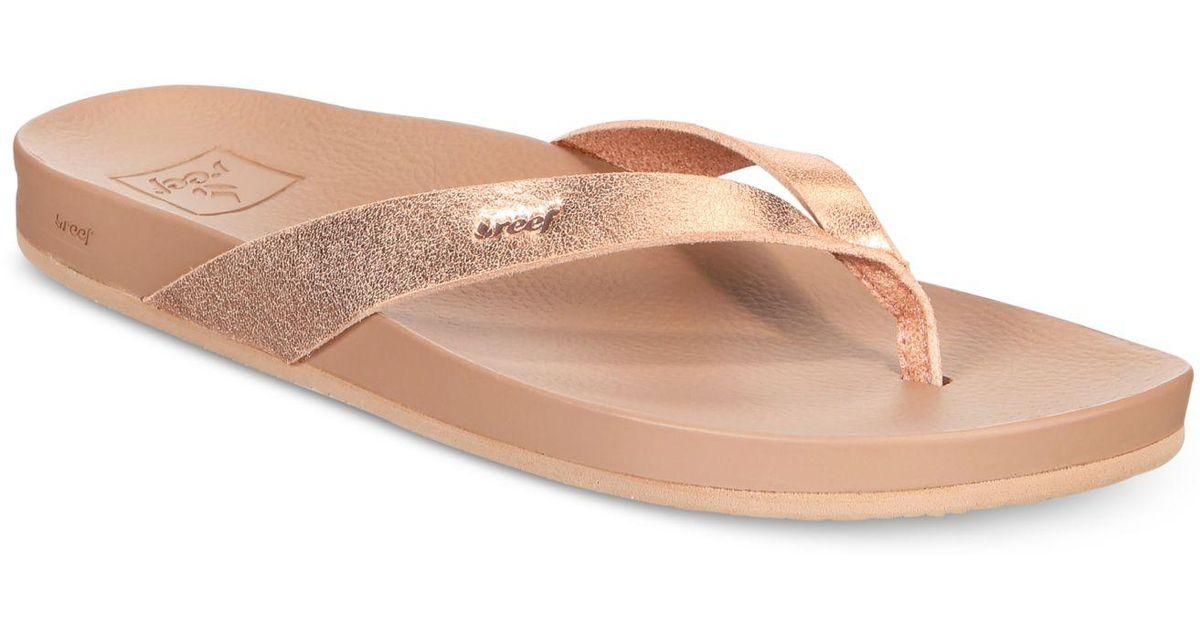 dc5aa6b3e745 Reef Cushion Bounce Court Flip-flop Sandals - Lyst