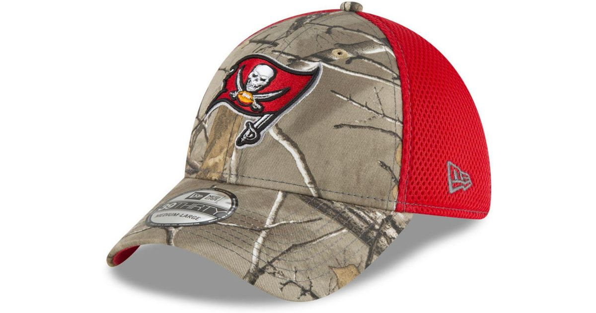 brand new acdda d0d1d KTZ Tampa Bay Buccaneers Realtree Camo Team Color Neo 39thirty Cap for Men  - Lyst