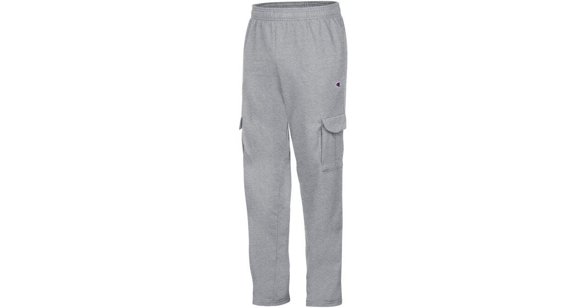 1451d8d497f6 Lyst - Champion Men s Powerblend Fleece Cargo Pants in Gray for Men