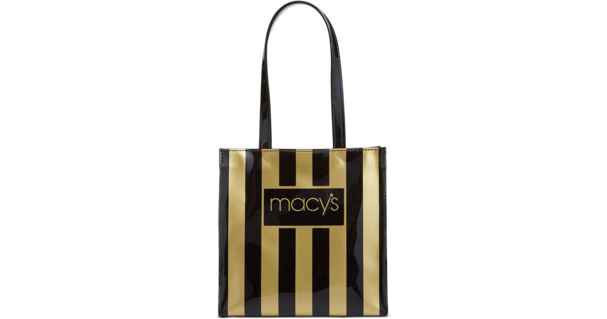 cb3853b0c0a Macy's Dani Accessories Black & Gold Tote in Black - Lyst