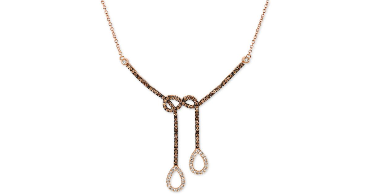 Le Vian Lariat Necklace 3/8 ct tw Diamonds 14K Strawberry Gold pPU6ASsH