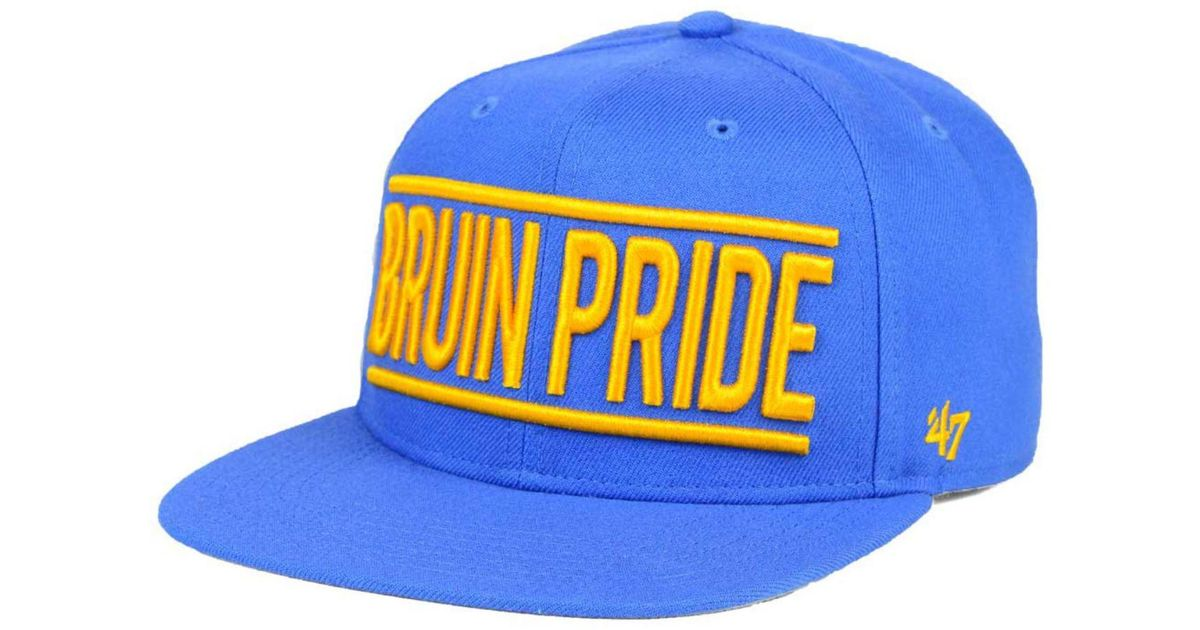 0d8171006f3702 ... authentic lyst 47 brand ucla bruins on track snapback cap in blue for  men f7d9f 2910e